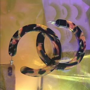 Funky Marbled resin hoops francescas never worn